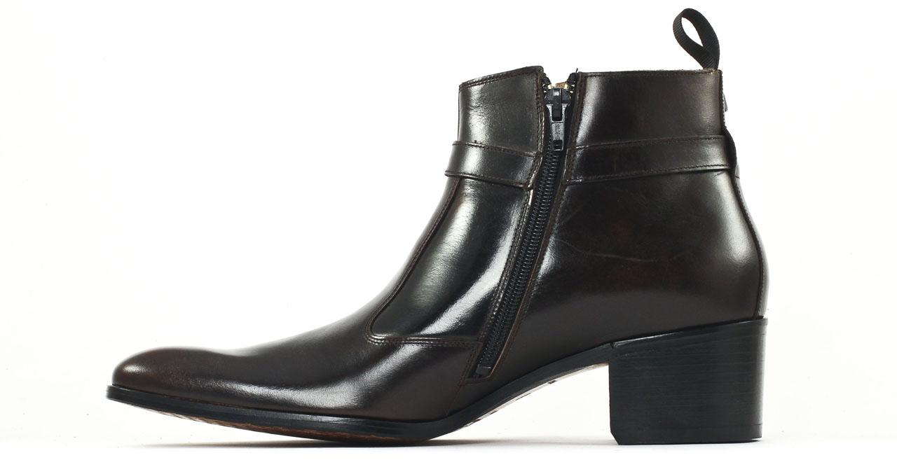 simon fournier paris vincennes brown antic boot talon haut marron fonc luxe chez ciao polo. Black Bedroom Furniture Sets. Home Design Ideas