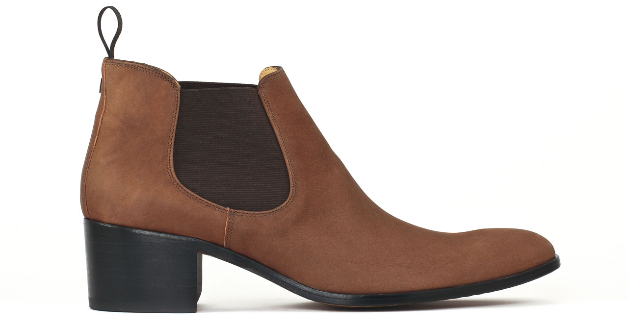 simon fournier paris sorbonne brown nubuck boot chelsea talon haut marron luxe chez ciao polo. Black Bedroom Furniture Sets. Home Design Ideas