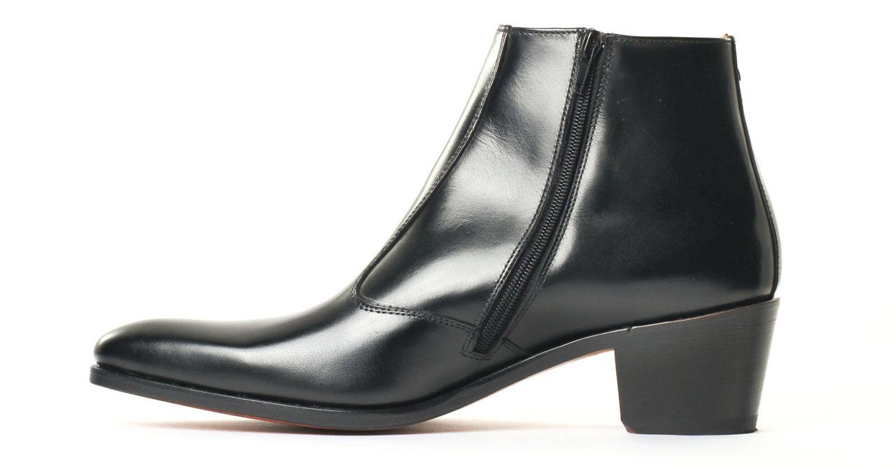 simon fournier paris 10667 op ra noir boot talon haut noir luxe chez ciao polo. Black Bedroom Furniture Sets. Home Design Ideas