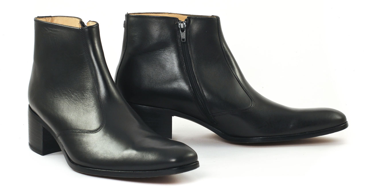 simon fournier paris op ra black nappa boot talon haut noir luxe chez ciao polo. Black Bedroom Furniture Sets. Home Design Ideas