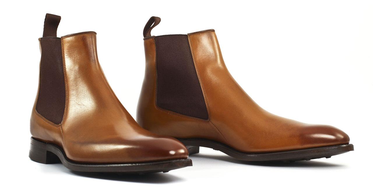 Boots Chelsea en cuir Marron dxwc0enUV