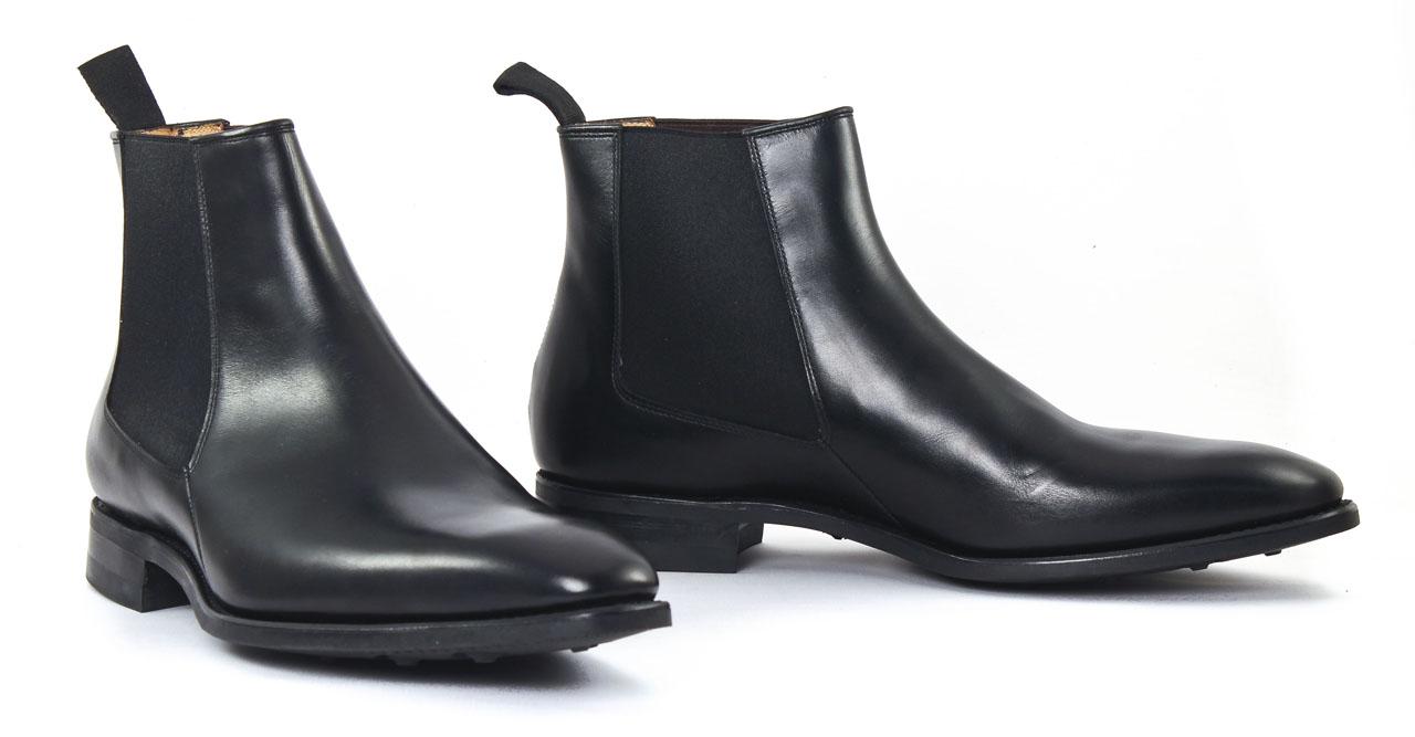 carlos santos 7902z noir boot chelsea noir luxe chez ciao polo. Black Bedroom Furniture Sets. Home Design Ideas