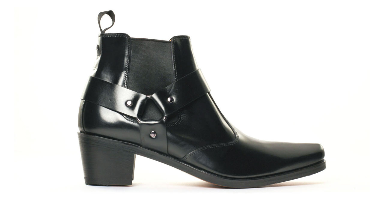 simon fournier paris 10669 pigale noir boot chelsea talon haut noir luxe chez ciao polo. Black Bedroom Furniture Sets. Home Design Ideas