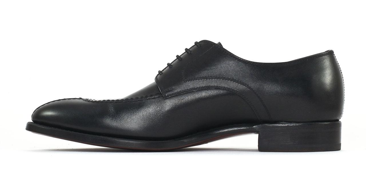 carlos santos 6913z cuir noir derbies noir luxe chez ciao polo. Black Bedroom Furniture Sets. Home Design Ideas