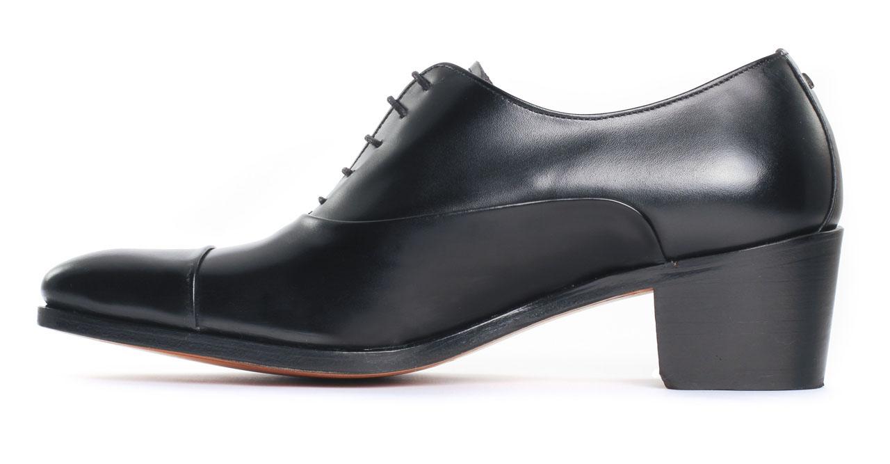 simon fournier paris drouot calf noir richelieu talon haut noir luxe chez ciao polo. Black Bedroom Furniture Sets. Home Design Ideas