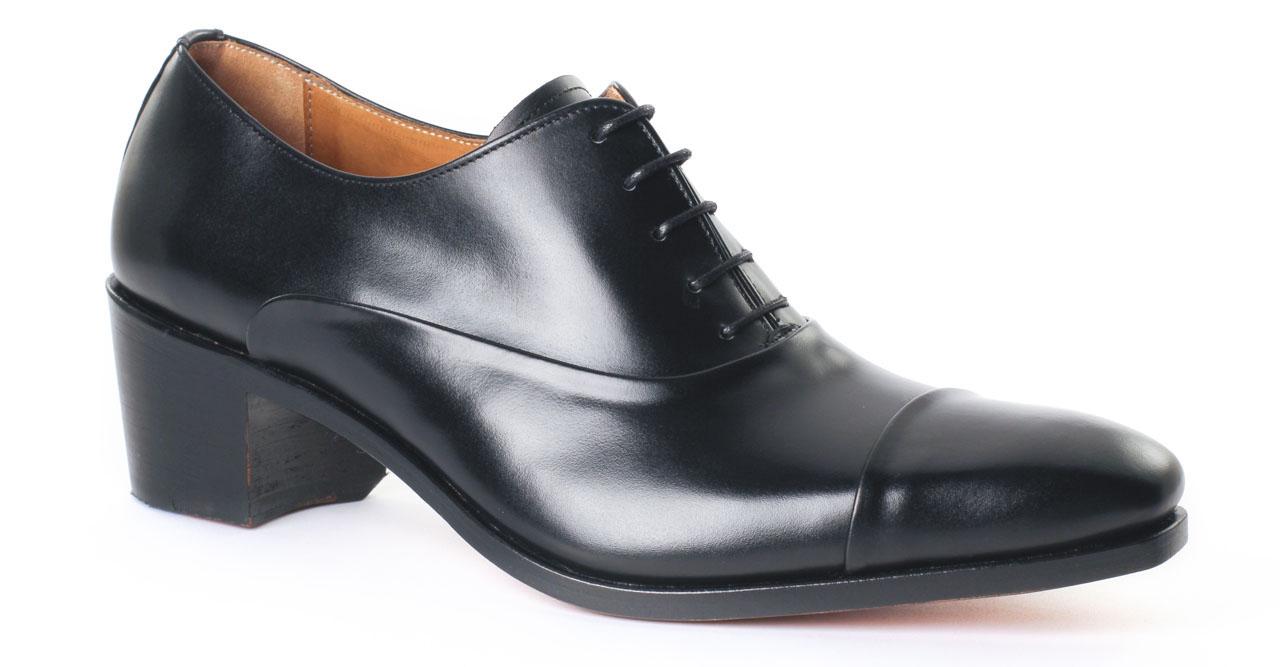 4a7ac328884 richelieu talon haut noir mode homme luxe vue 5