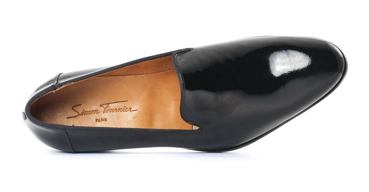 Slippers Noir Cuir Verni Noir EEWHz