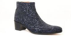 boots-talon-haut glitter navy: même style de chaussures en ligne pour hommes que les Simon Fournier Paris
