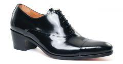 Chaussures homme hiver 20 - richelieu talon haut Simon Fournier Paris Vernis noir