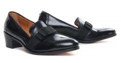 slippers-de-ville noir: même style de chaussures en ligne pour hommes que les Simon Fournier Paris