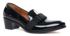 slippers-de-ville vernis noir: même style de chaussures en ligne pour hommes que les Simon Fournier Paris