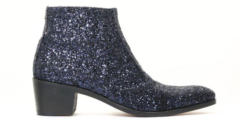 bottines et boots hommes luxe - boots à talon haut-Glitter Navy