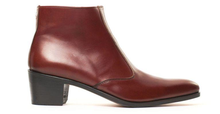bottines et boots hommes luxe - boots à talon haut-Marron