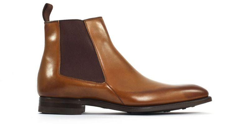 carlos santos 7902z cuir 1996 boot chelsea marron luxe chez ciao polo. Black Bedroom Furniture Sets. Home Design Ideas