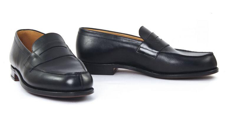 chaussures de ville hommes luxe - mocassins-noir