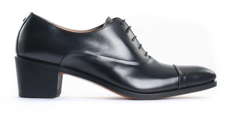 chaussures de ville hommes luxe - richelieu talon haut-noir