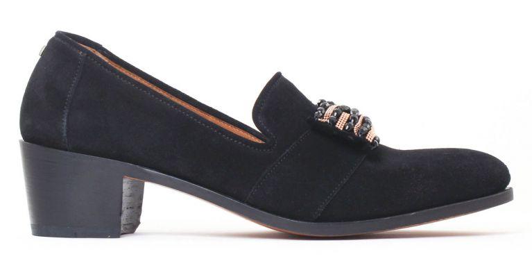 chaussures de ville hommes luxe - Slipper de ville-noir suede