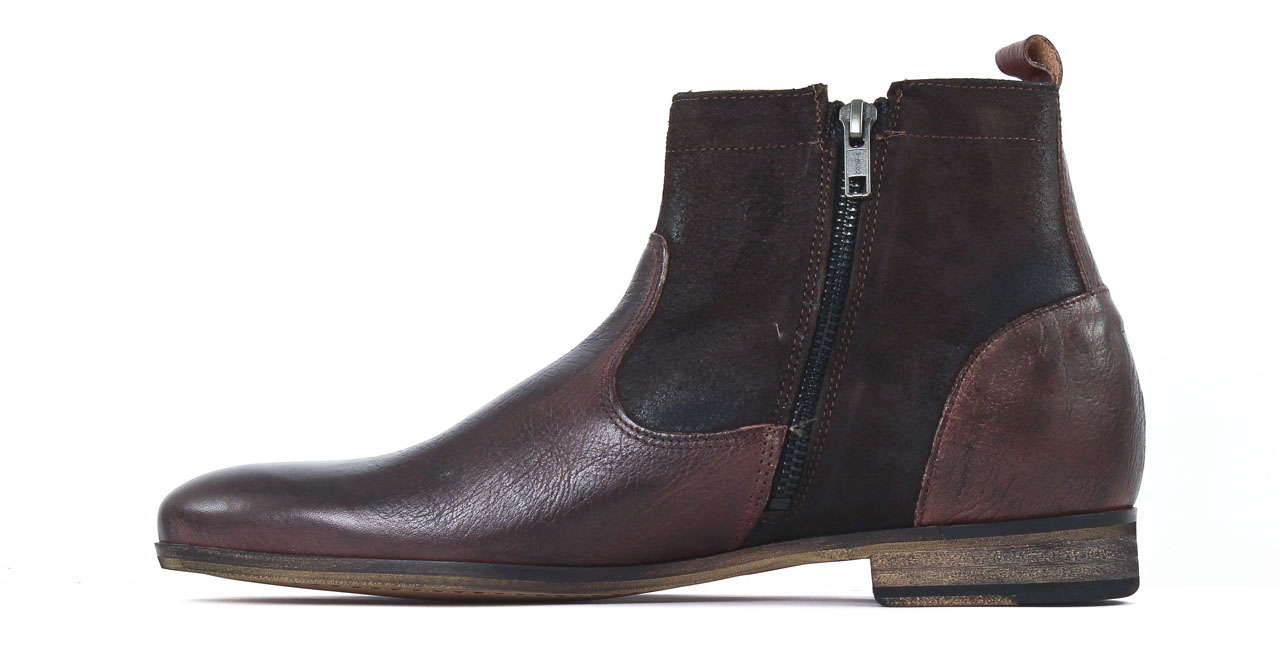 kost torcol69 marron boot zipp es marron mode chez ciao polo. Black Bedroom Furniture Sets. Home Design Ideas