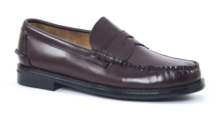 chaussures de ville hommes mode - mocassins-bordeaux