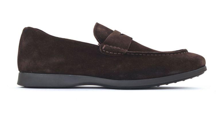 chaussures de ville hommes mode - mocassins-marron nubuck